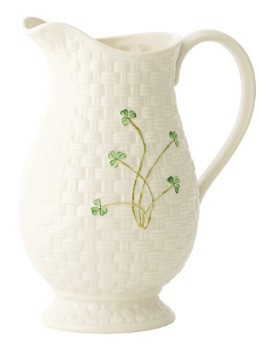 Belleek 1260 Kylemore Pitcher, 8.5-Inch, White
