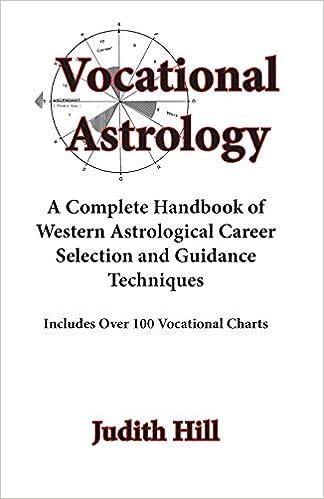 Amazon com: Vocational Astrology (9780866905022): Judith