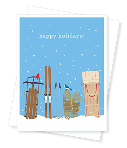 Price comparison product image Apartment 2 Cards Holiday Sleds Boxed Christmas Cards