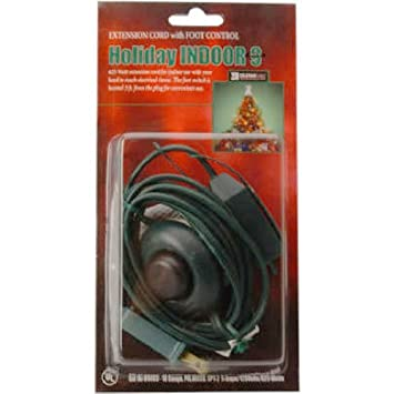 Beau Coleman Cable 09493 9 Foot Christmas Extension With On/Off Foot Switch