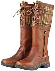 Dublin Thames Boots Red Brown Ladies Full Grain Leather Waterproof