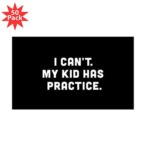 CafePress - My Kid Has Practice - Sticker (Rectangle 50 pk) by CafePress