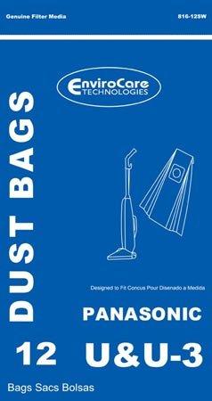 (Package of 12 Replacement Panasonic U/U3/U6 Bags)