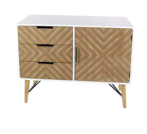Cheap Deco 79 Wood and Metal 39″ W, 30″ H Cabinet, Brown/White/Black