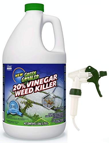 Green Gobbler Vinegar Weed & Grass Killer | Natural and Organic Weed & Grass Killer | Pet Safe | 1 Gallon (Best Moss Killer For Patios)
