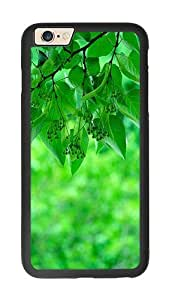 iPhone 6 Case, Green Aspen Leaves iPhone 6 Rugged TPU Case Black