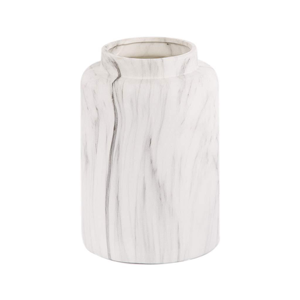 20.5センチシリンダーセラミックフラワー花瓶小瓶北欧シンプルな水差しのための水差し、ホームウェディングオフィスやパーティーのための理想的な装飾、2サイズオプションホワイト (Size : L) B07SVC8PLS  Large