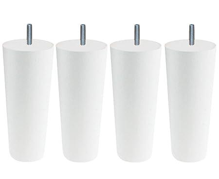 Legno Bianco /Set di 4/Piedi di Rete 5,5/x 5,5/x 18/cm /Cottage Conico/ 5,5 x 5,5 x 18 cm Margot/