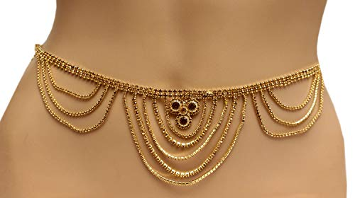 Glamorous Collection Sari Chain Antique Gold Belly Waist Saree Chain Jewelry/Belly Dance Kamar Band Bandh