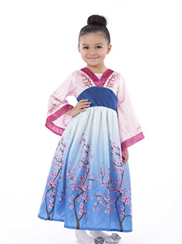 [Little Adventures Asian Princess Dress Up Costume for Girls - Small (1-3 Yrs)] (Mulan Costume Pattern)