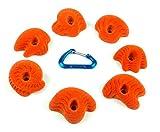 7 Dripstone Mini Jugs | Climbing Holds | Orange