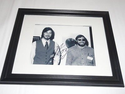 STEVE WOZNIAK SIGNED FRAMED AND MATTED 8X10 PHOTO IN 11X14 FRAME W/ JOBS JSA COA by Unknown