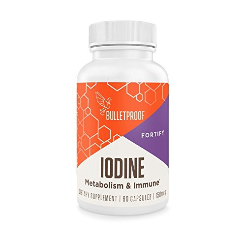 Bulletproof IODINE, Metabolism & Insusceptible ,60CT 150MG, + Free NOIS Tissue Pack