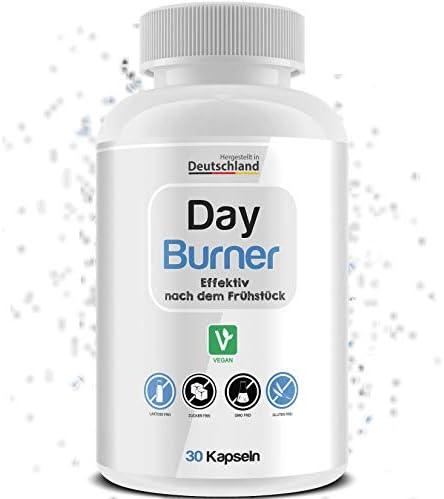 DAY BURNER UNISEX - Fettverbrenner - Schnell abnehmen - Einfach nach dem Frühstück - VEGAN - Hochdosiert - Made in DE - 30 Tage GARANTIE - 30 Kapseln