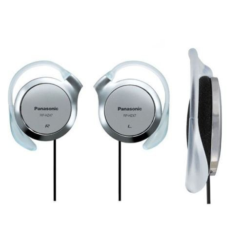 Price comparison product image NEW Panasonic RP-HZ47-S Silver Ear-Clip Headphones 9.9mm Ultra Slim RPHZ47 /GENUINE