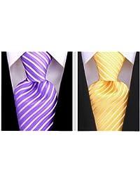 Striped Ties for Men - Woven Necktie - Mens Ties Neck Tie by Scott Allan