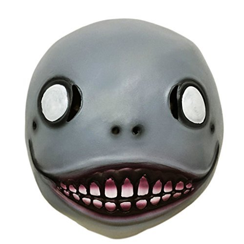 Demi Sharky Novelty Halloween Cosplay Party Automata Mask Emil Mask Latex Helmet Hot Game (Halloween Over Meme)