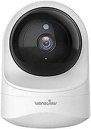 Wansview - Cámara de seguridad inalámbrica 1080PHD para el hogar, WiFi para perros y gatos, audio de 2 vías, v