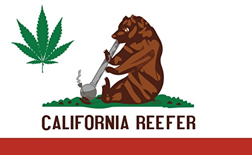 MAFCO California Marijuana Flag 3x5 Feet Cronic Weed 420