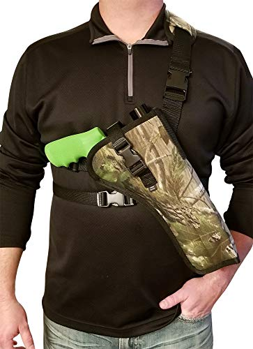 Silverhorse Holsters Chest/Shoulder Gun Holster | Fits Smith & Wesson 460, 500 X Frame Revolvers with Larger Scope in 6.5