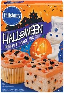 Pillsbury Halloween Funfetti Cake Mix Pack of (Cake Mix Halloween)