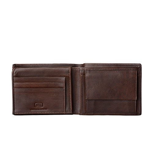 with Classic Antica Real Credit Slots Italian Coin Pocket in Mens Leather amp; Toscana Chestnut Flip model card Wallet up trxqtTz