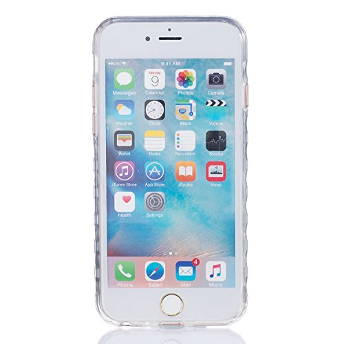 iPhone 6 Plus Funda, Sunroyal Carcasa Silicona TPU Gel para iPhone 6S Plus Semi-Transparente Glitter Ultra Slim Concha Anti-Arañazos Amortiguar los Choques Borrar Espalda Caja del Teléfono Diseño Dibu A-07