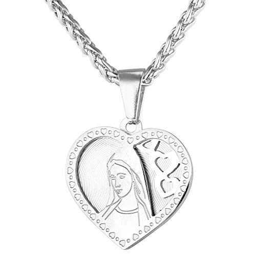 U7 Christian Necklace Stainless Christmas