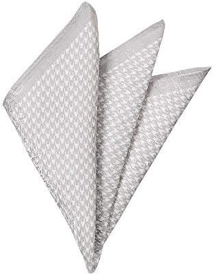 (ザ・スーツカンパニー) ジャカード織り シルクポケットチーフ オフホワイト×シルバー
