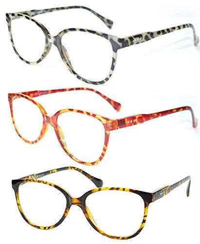 Wayfarers Cat Eyes Designer Round Leopard Tortoise Reading Glasses Women Readers Black White Leopard - Glasses Discount Reading Designer