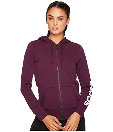 adidas Women's Essentials Linear Full Zip Fleece Hoodie, Red Night, X-Small by adidas (Image #1)