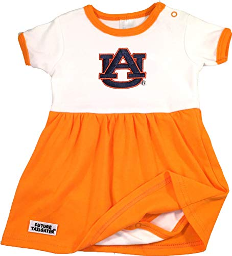 Onesie Dress Baby (Future Tailgater Auburn Tigers Baby Onesie Dress - Orange Trim (3-6 Months))