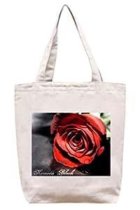 Rojo pasión–lona de algodón Tote Bag