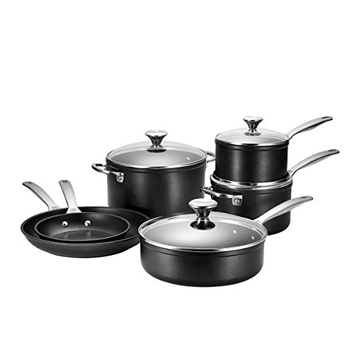 Le Creuset TNS0010 10 Piece Toughened Nonstick Cookware Set