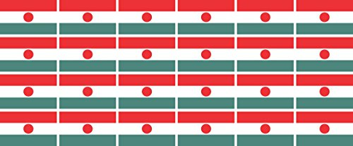 Mini Sticker Pack smooth - 33x20mm - Self-Stick - Niger - Self-Adhesive - Flag Decals - for Car, Office and Home - 24 pieces