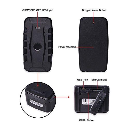 3G GPS Tracker Car Tracking Device Vehicle GPS Tracker Magnetic WIFI GPS Locator 20000mAh Battery Waterproof IP67 Prazata (3G Tracker 20000mAh Battery) by Prazata (Image #8)
