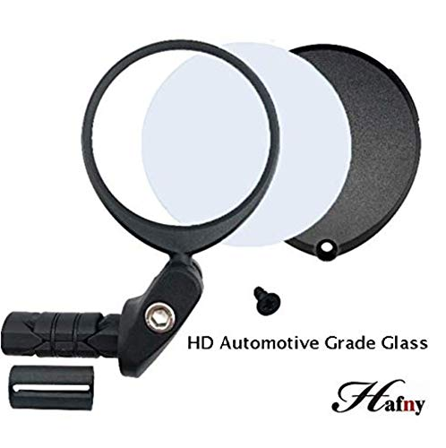 Hafny 2019 Replaceable Bar End Bike Mirror (HD Automotive Grade Glass Lens)