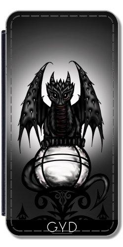 Leder Flip Case Tasche Hülle für Apple Iphone 7 Plus / 8 Plus - Gotische Drachen by Pezi Creation