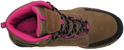 ba1f9afdd56 GRITION Womens Hiking Boots, Outdoor Traveler Waterproof Safety ...
