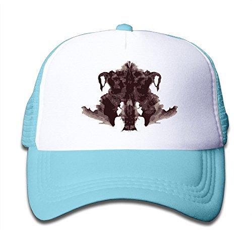 Cute Kids Fashion Strapback Hat Rorschach-Test Adjustable Mesh Cap SkyBlue (Rorschach Hat)