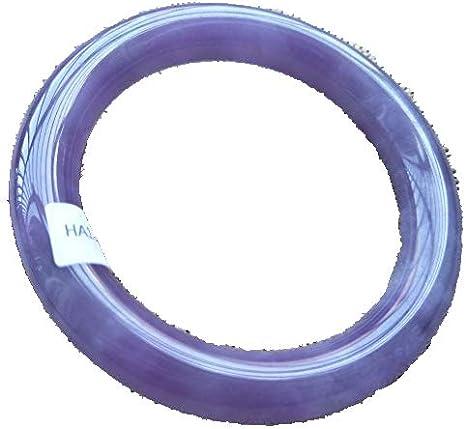 ZHIBO - Caja de joyería fina de 58 mm, certificada, 100% natural, lavanda morada, Jadeíta JADE
