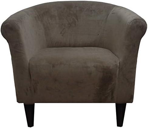 Zipcode Design Liam Barrel Chair, Barrel Accent Chair Mocha