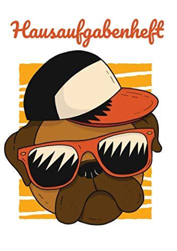 Hausaufgabenheft: Hund Mops Cool Sonnenbrille Basecap - Praktisches Hausaufgabenheft für die Grundschule im A5-Format (German Edition) (Sonnenbrillen Junge)