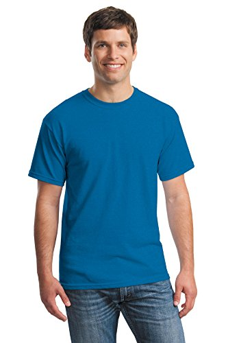Uomo Antique Heavy Blu Tee Maglietta Sapphire Cotton Gildan PpYqFgW