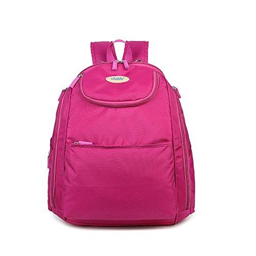 Bolso de la momia del hombro, bolso de la madre de múltiples funciones, bolsos grandes de la maternal y del niño, protección del medio ambiente embarazadas empaqueta ( Color : Rosa Roja ) Rosa Roja
