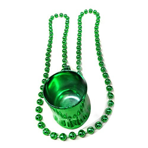 Bhbuy 10pcs St Patrick Day Beer Mug Beads Necklaces Chains for Party Favor Costumes Games Supplies