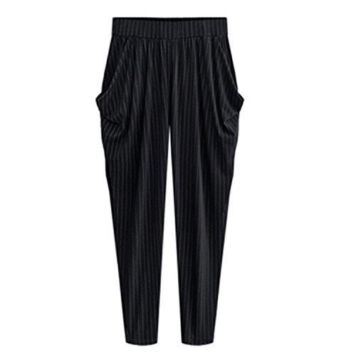 (Barry Picks Elastic Waist Female High Sweatpants Striped Trousers,X-Large,SmallStriped)