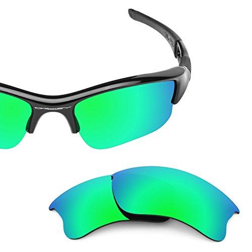 d2be9406a25 Revant Polarized Replacement Lenses for Oakley Flak Jacket XLJ Emerald Green  MirrorShield