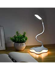 LED Desk Lamp, XIAOKOA Eye Protection Study Reading Lamp with Night Light and 3 Levels Brightness, Touch Sensitive Control, Twistable Tube,14LED Table Lamp (901-CA)
