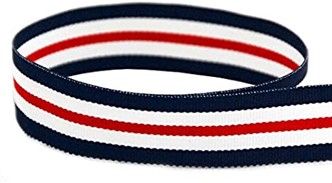 "2 Yds Patriotic White American Flag Satin Ribbon 7//8/""W wri"